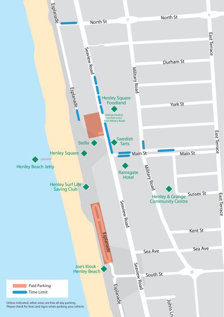 Parking Henley Beach