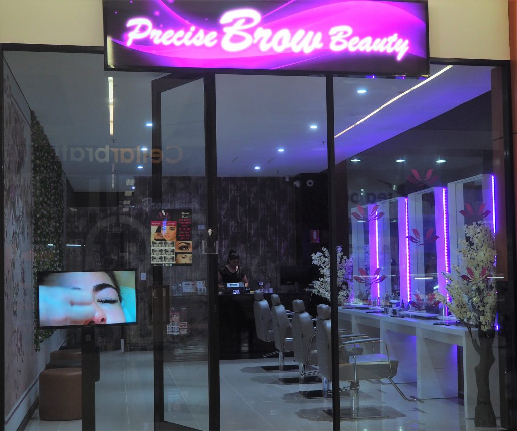 Front of Precise Brow Beauty shop